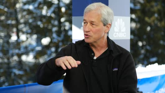 Jamie Dimon, Chairman, CEO and President of JP Morgan Chase at the 2018 WEF in Davos, Switzerland.