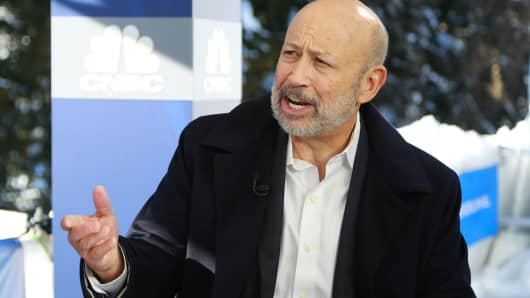 Lloyd Blankfein, Chairman and CEO of Goldman Sachs, at the 2018 WEF in Davos, Switzerland.