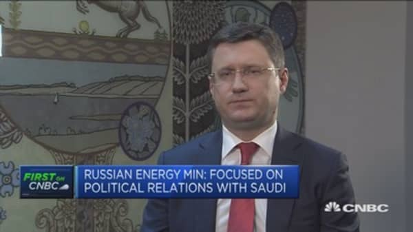 Russian energy minister: Agree Saudi-Russia oil pact will last