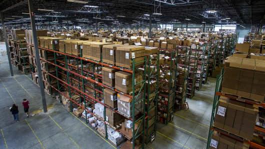 Overstock.com warehouse