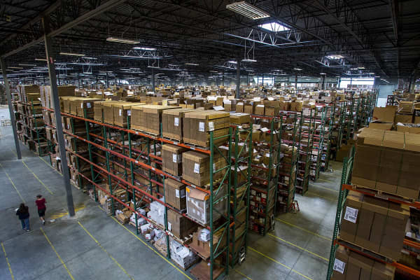 Overstock.com warehouse