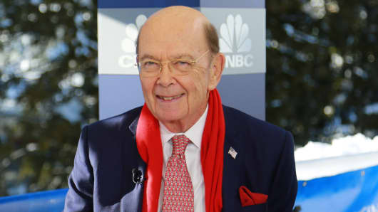 Secretary of Commerce, Wilbur Ross, at the 2018 WEF in Davos, Switzerland.