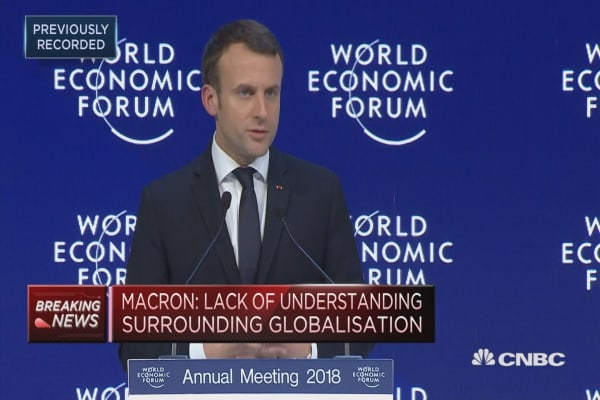 Macron: Globalization is going through a major crisis