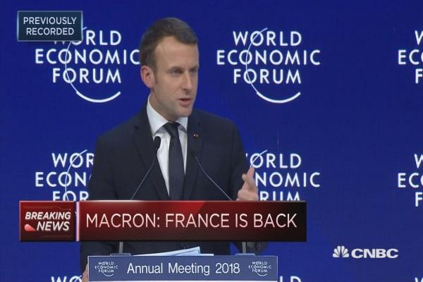 French President Emmanuel Macron: France is back