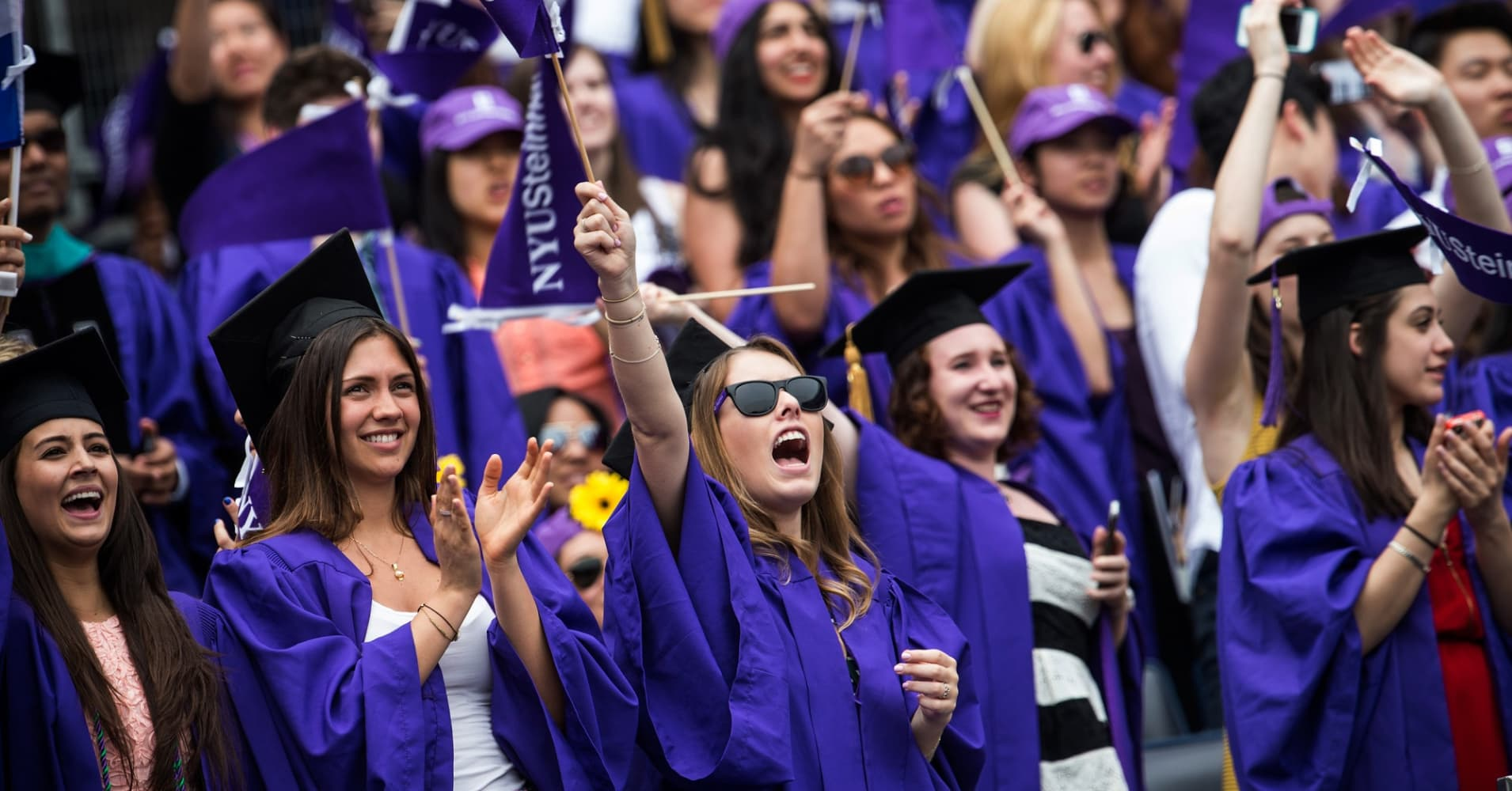 New York University graduation ceremony at Yankee Stadium