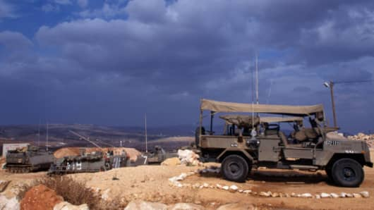 Israel. Army post on the border with South Lebanon.