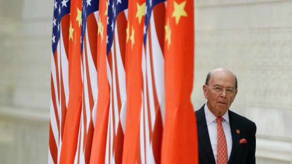 U.S. Commerce Secretary Wilbur Ross in Beijing on November 9, 2017.