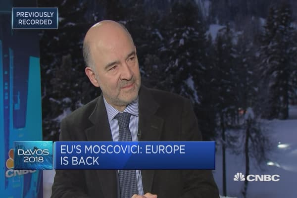 Europe is back: EU's Moscovici