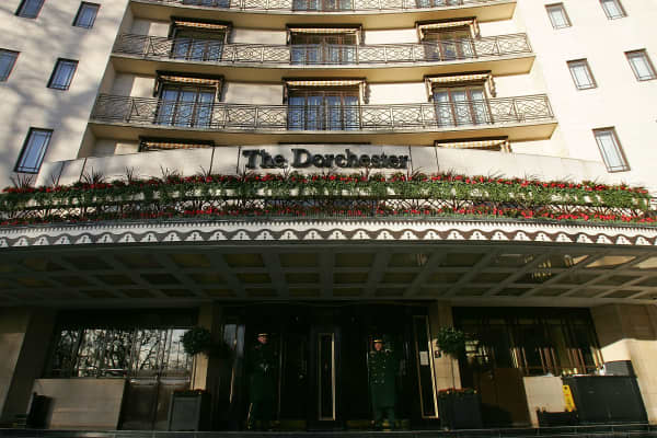 The Dorchester Hotel in London, UK