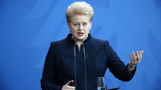 Lithuania´s President Dalia Grybauskait