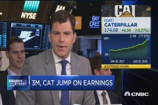 Caterpillar shares jump on big earnings beat