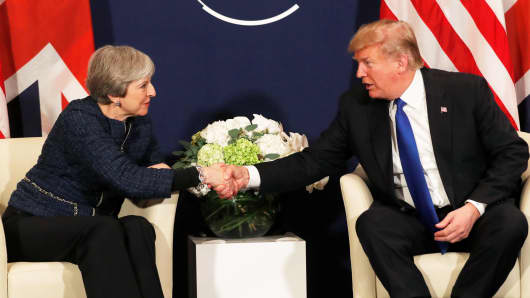 Image result for trump and theresa may