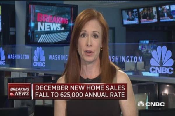 December new home sales fall to 625,000 annual rate