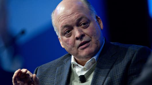 Jim Hackett, president and chief executive officer of Ford Motor Co., speaks during a discussion at the Automotive News World Congress event in Detroit, Michigan, U.S., on Tuesday, Jan. 16, 2018.
