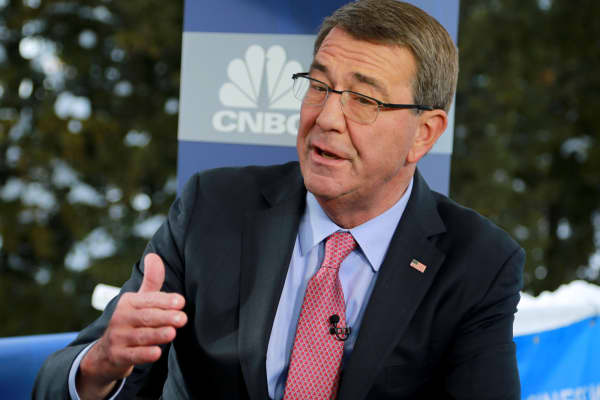 Ash Carter, Former Secretary of Defense, at the 2018 WEF in Davos, Switzerland.