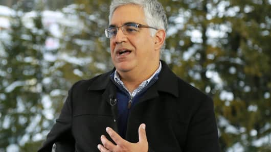 Aneel Bhusri, co-founder and CEO of Workday, at the 2018 WEF in Davos, Switzerland.