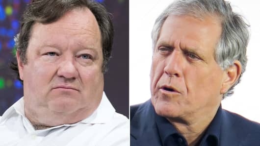 Viacom President and CEO Bob Bakish and Les Moonves, CBS Chairman and CEO of CBS.