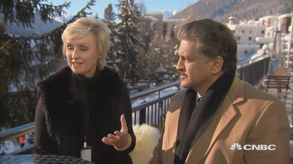 Davos Face To Face: Tina Brown and Anand Mahindra