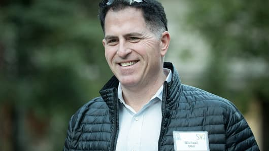 Michael Dell, CEO of Dell Inc., attends the annual Allen & Company Sun Valley Conference on July 8, 2016.