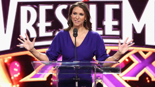 Stephanie McMahon attends the WrestleMania 30 press conference at the Hard Rock Cafe New York on April 1, 2014 in New York City