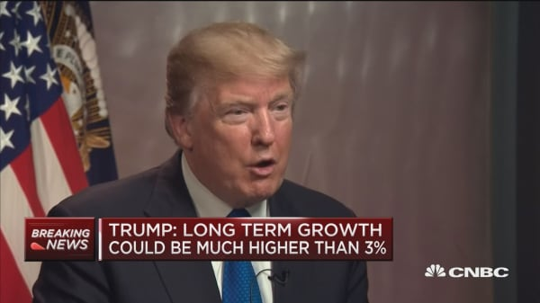 Trump says the stock market would have been down 50% had Clinton won