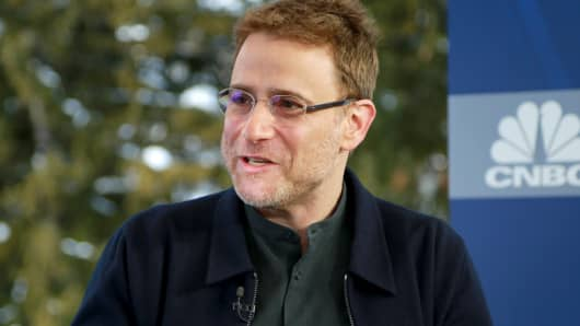 Stewart Butterfield, co-founder and CEO of Slack, at the 2018 WEF in Davos, Switzerland.