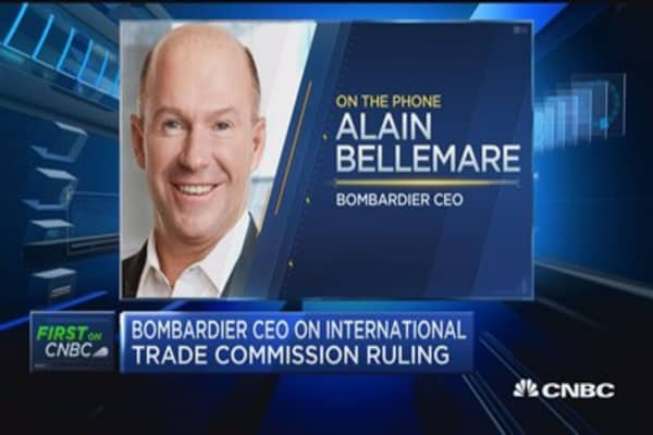Bombardier CEO: ITC ruling a major victory for Bombardier, innovation, customers