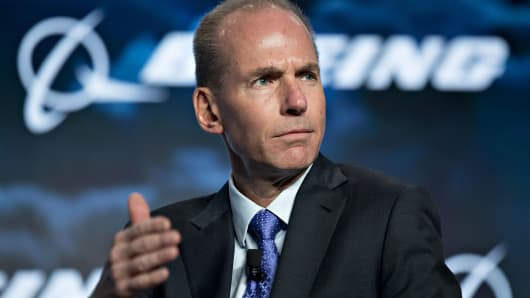 Dennis Muilenburg, chairman and CEO of Boeing. The company says 1 out of every 4 jetliners rolling off its assembly lines is being bought up by Chinese customers.