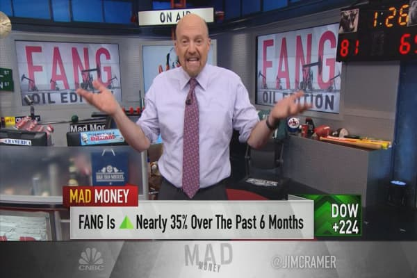 Cramer says the market's other FANG is a great growth play on oil