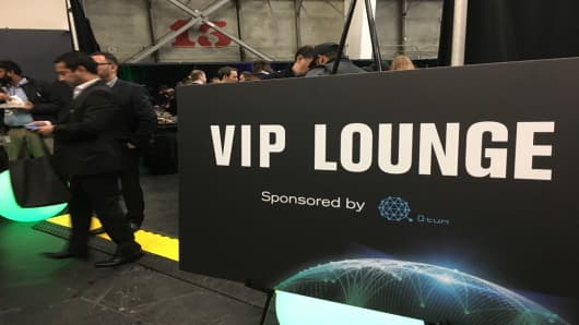VIP Lounge at the Blockchain Connect Conference in San Francisco