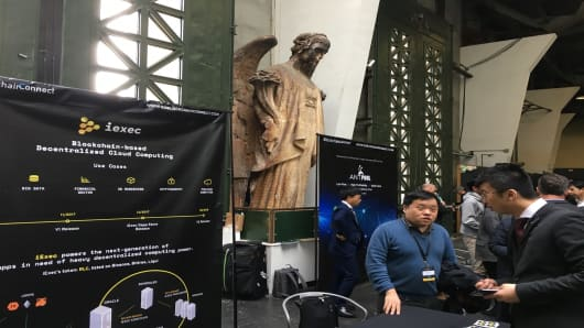 Exhibition hall at the Blockchain Connect Conference in San Francisco