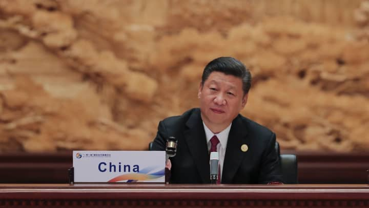 Chinese President Xi Jinping attends Roundtable Summit Phase One Sessions of Belt and Road forum on May 15, 2017.