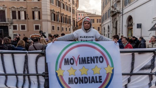 The Five Star Movement launched its election campaign on December 7, 2017, in Rome, Italy.