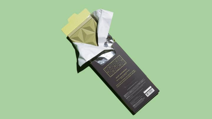 Défoncé Chocolatier White Chocolate, Green Tea Matcha Cannabis Bar