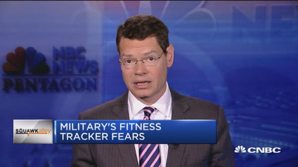 Security risks arise from military's fitness tracker use