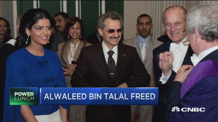 Saudi Prince Alwaleed bin Talal freed after two-month detention