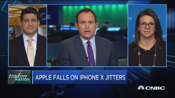 Trading Nation: Apple falls on iPhone X jitters