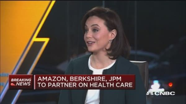Stocks on the move after Amazon, Berkshire and JP Morgan announce health care partnership