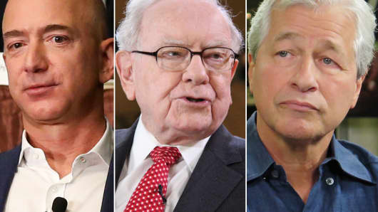 Jeff Bezos, Warren Buffett and Jamie Dimon.