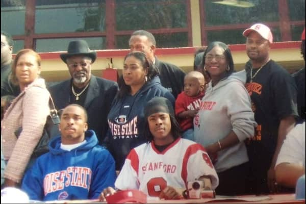 Throwback: Richard Sherman, family and friends