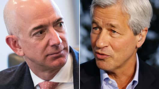 Jeff Bezos and Jamie Dimon.
