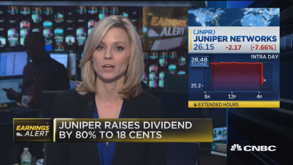 Juniper shares slide on weak Q1 guidance