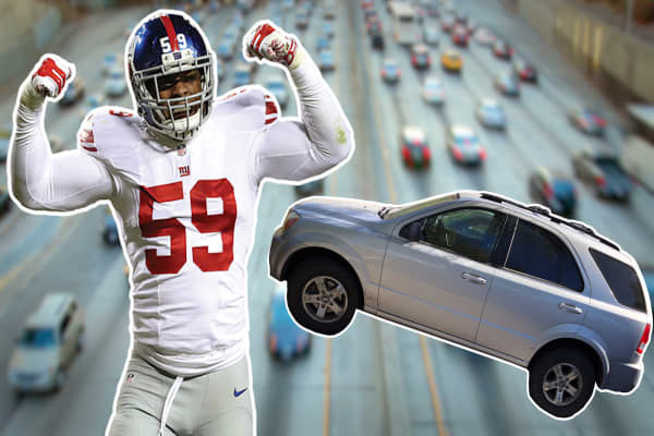 Why a New York Giants linebacker took his high school car with him to the NFL