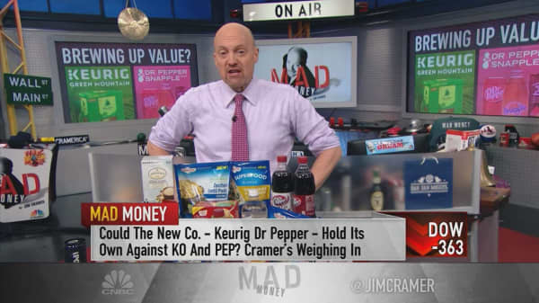 Cramer bullish on Dr Pepper-Keurig deal despite Wall Street's tepid response