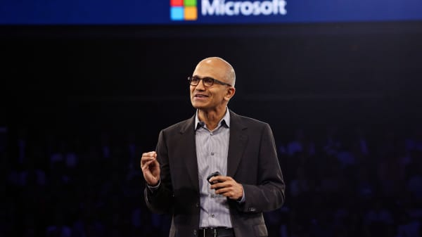 Microsoft CEO Satya Nadella at a company event in Washington in 2014.