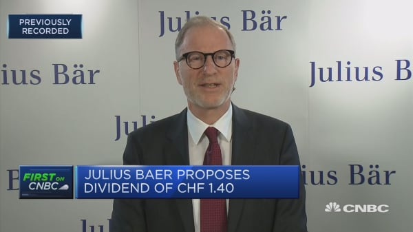Julius Baer CEO: We now have strong wealth manager on board