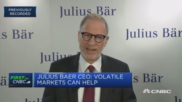 Julius Baer CEO: Will see 5%, 10% or 15% correction some time in 2018