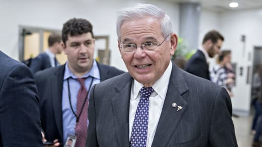 Senator Robert Menendez a Democrat from New Jersey