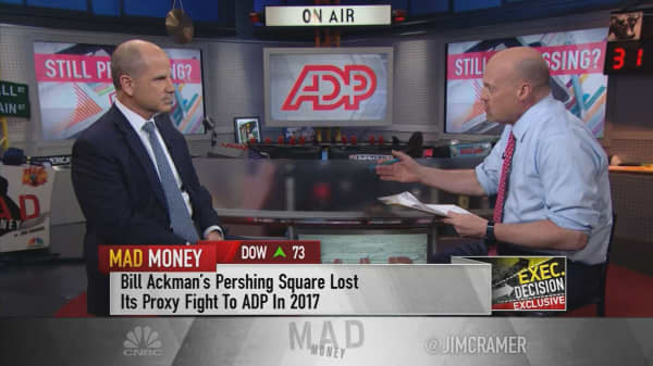 ADP CEO calls Ackman proxy fight 'water under the bridge,' says two have 'collegial, professional relationship'