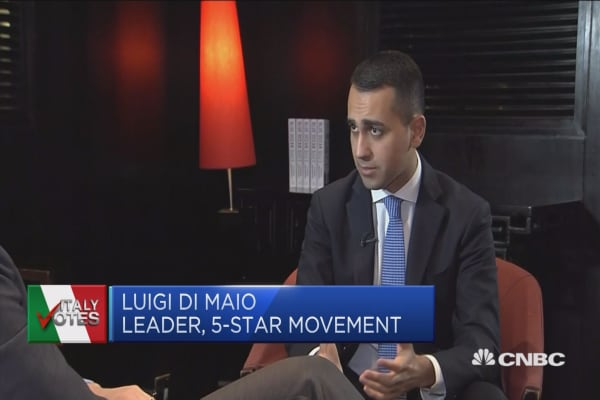M5S leader on upcoming Italian election